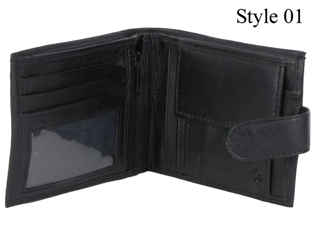 4 Styles Mens Quality Soft Leather Wallet