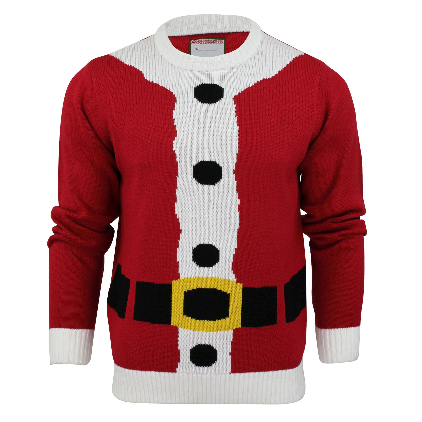 Breaking news: men's Christmas jumpers just got more hysterical. Yes, they also became more tasteless. But that's just the price you pay for being at the top of the fashion chain when it comes to ugly Christmas jumpers.