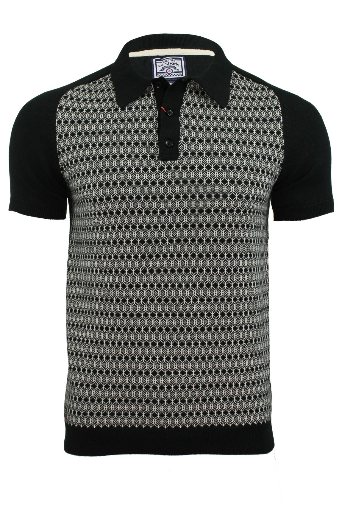 Mens knitted polo shirt by le shark short sleeved ebay for Knitted polo shirt mens