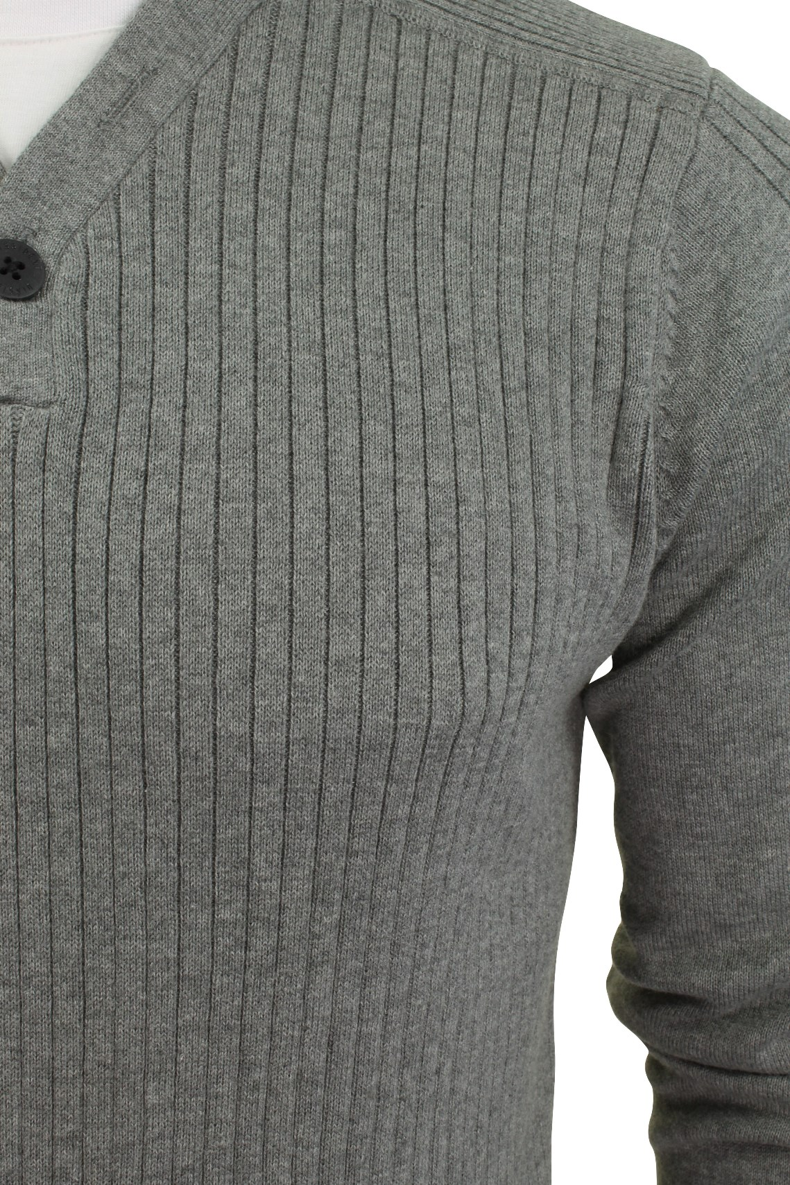 Mens ribbed jumper by dissident with t shirt trim for Mens ribbed t shirts