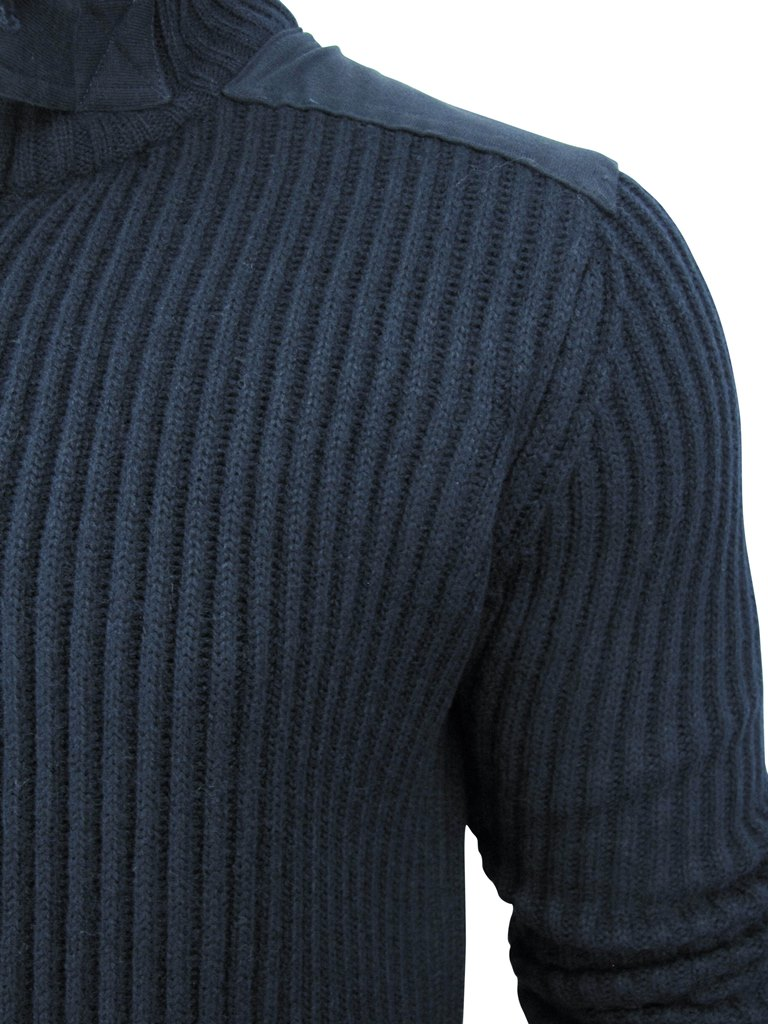 Mens Dissident 'District' Wool Mix Zip Through Funnel Neck ...