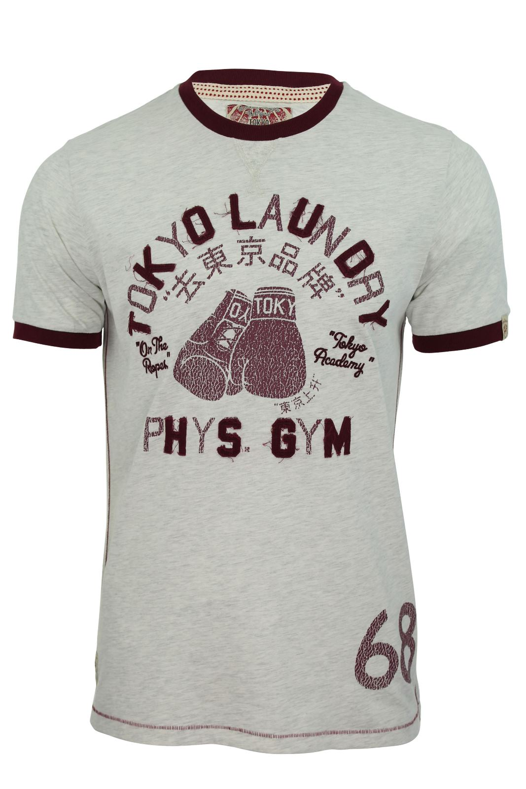 Tokyo-Laundry-Mens-T-Shirt-039-Marciano-039-Short-Sleeved-Boxing-Gym-Print