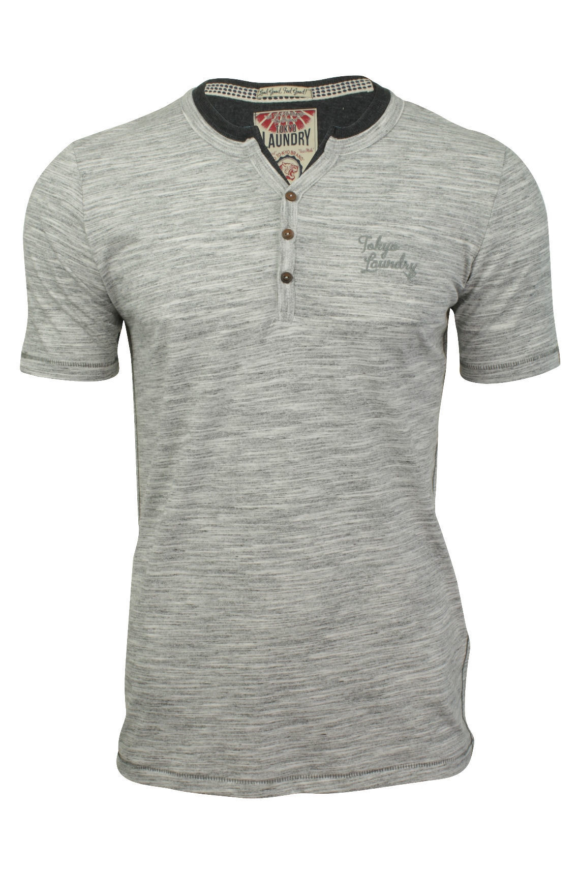 Mens grandad collar t shirt by tokyo laundry 39 buffalo cove Mens grandad collar shirt