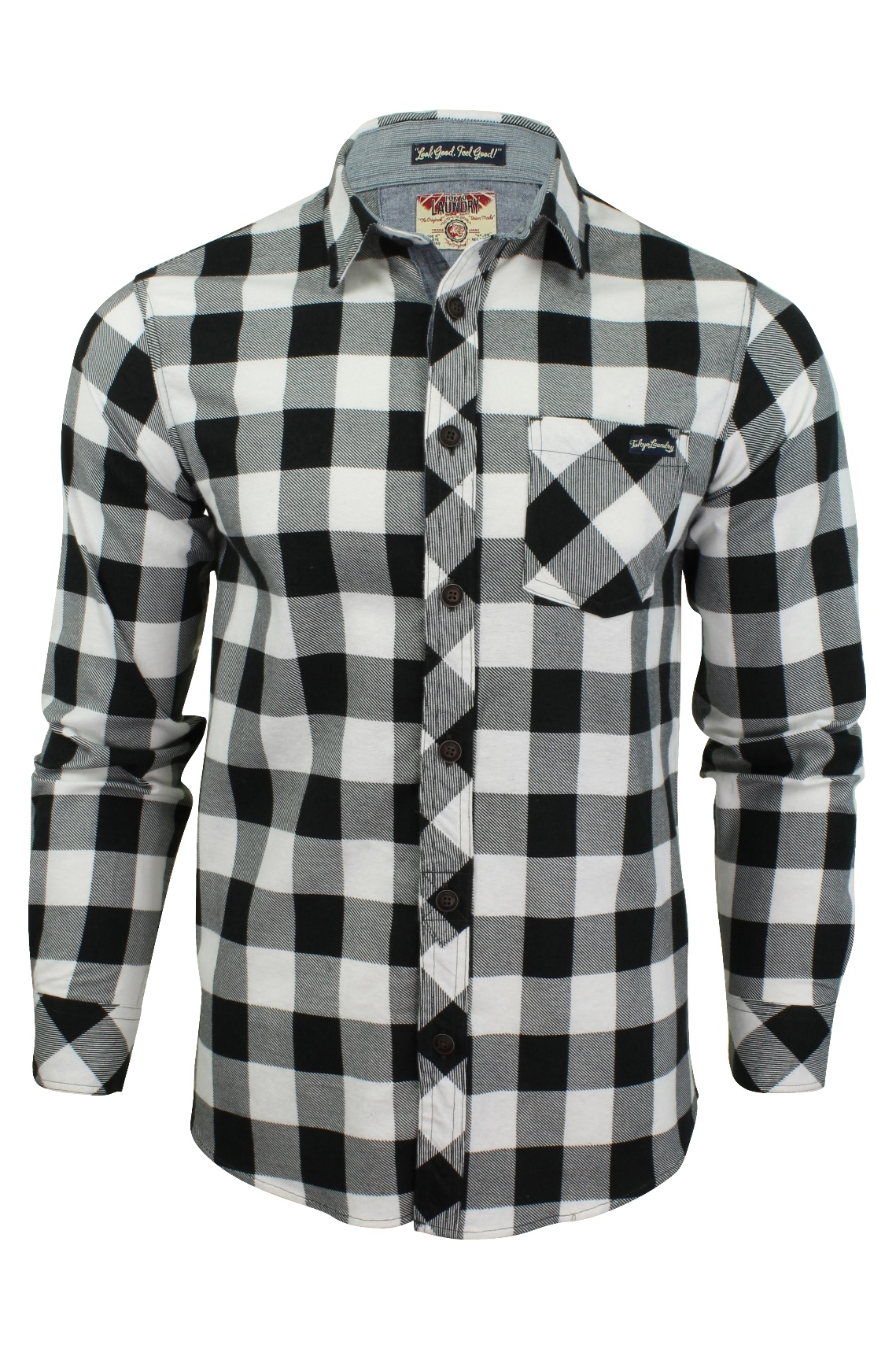 Mens Flannel Check Shirt By Tokyo Laundry 39 Wilding 39 Long