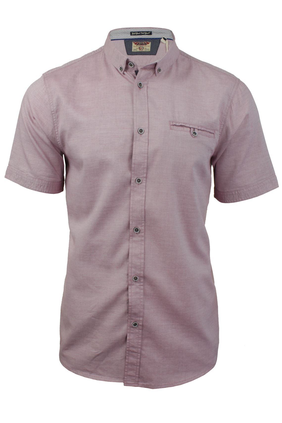Mens oxford shirt by tokyo laundry short sleeved ebay for Mens short sleeve oxford shirt
