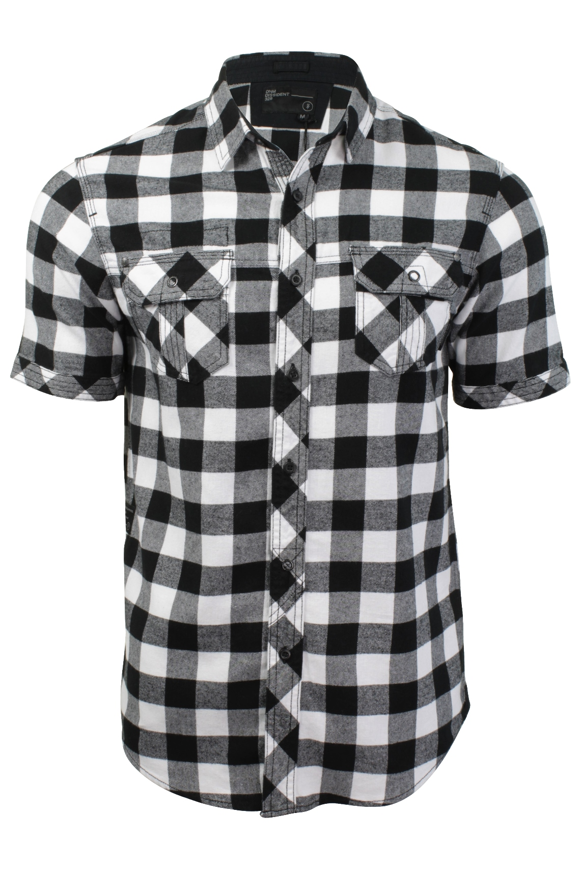 Mens-Buffalo-Check-Shirt-by-Dissident-039-Pedroza-039-Short-Sleeved