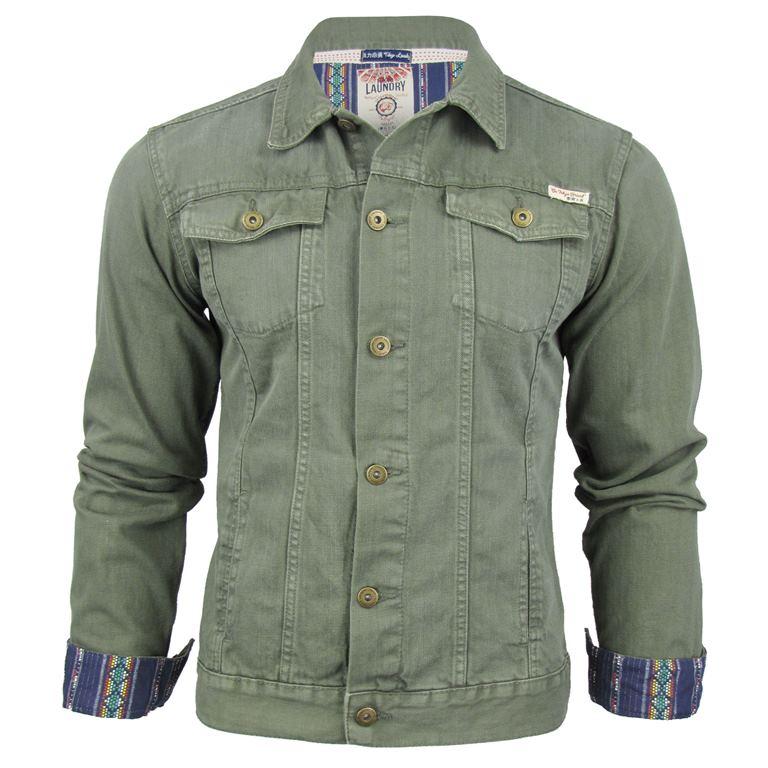 Mens Tokyo Laundry Wensley Denim Jacket Aztec Trim Detailing | eBay