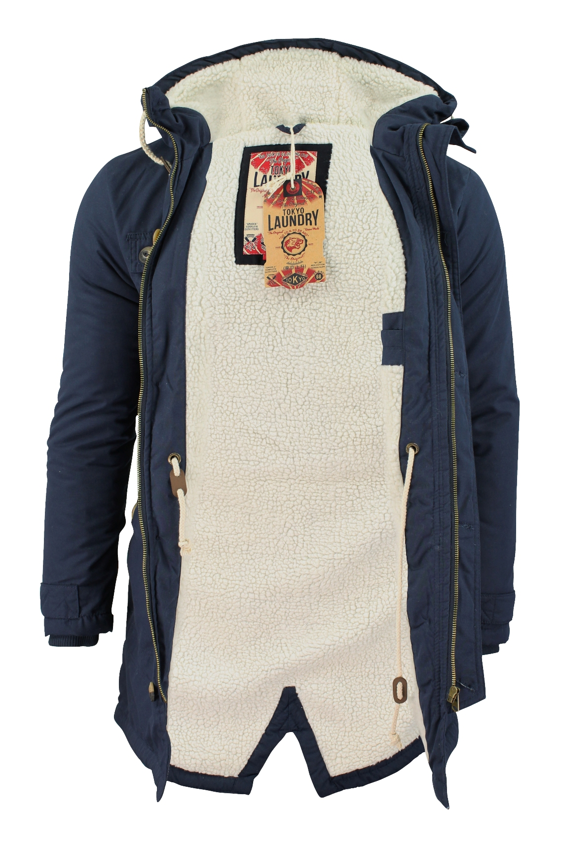 Mens Parka Jacket Tokyo Laundry 'Braxton' Fishtail ...