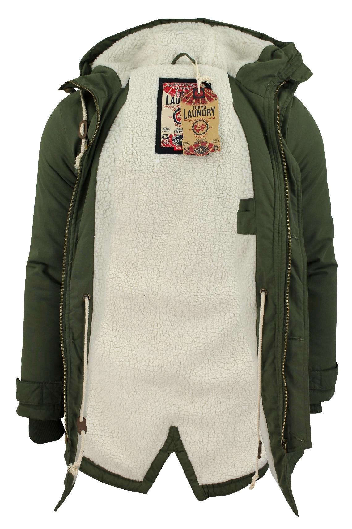 Mens Parka Jacket Tokyo Laundry &039Braxton&039 Fishtail
