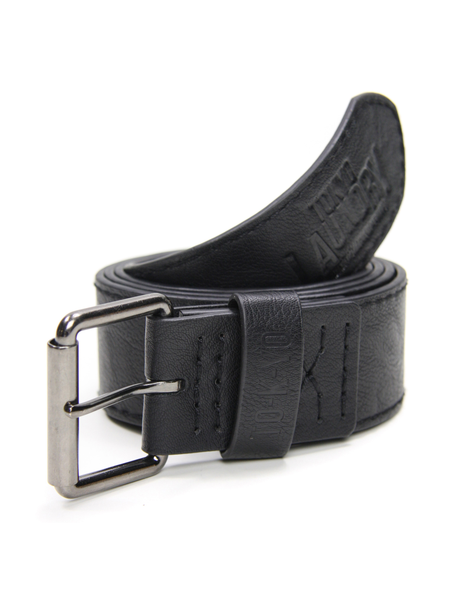 mens tokyo laundry hisashi faux leather distressed belt