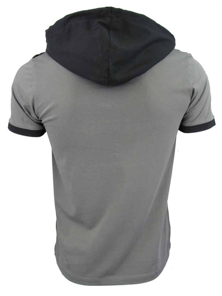 Mens Dissident Hoodie Top T-Shirt 'Convex' Short Sleeved | eBay