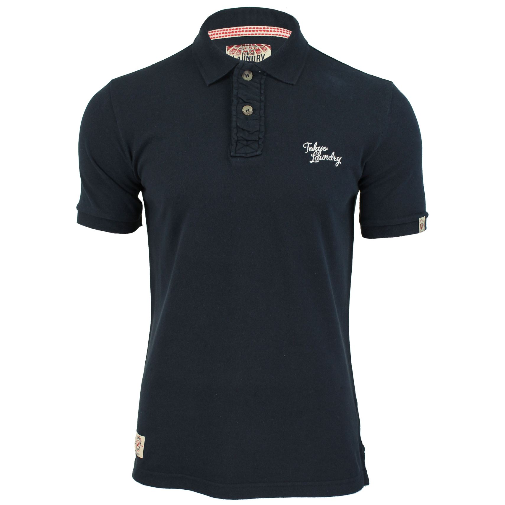 Tokyo-Laundry-Mens-Polo-T-Shirt-Sophomore-Short-Sleeved-Chest-Logo