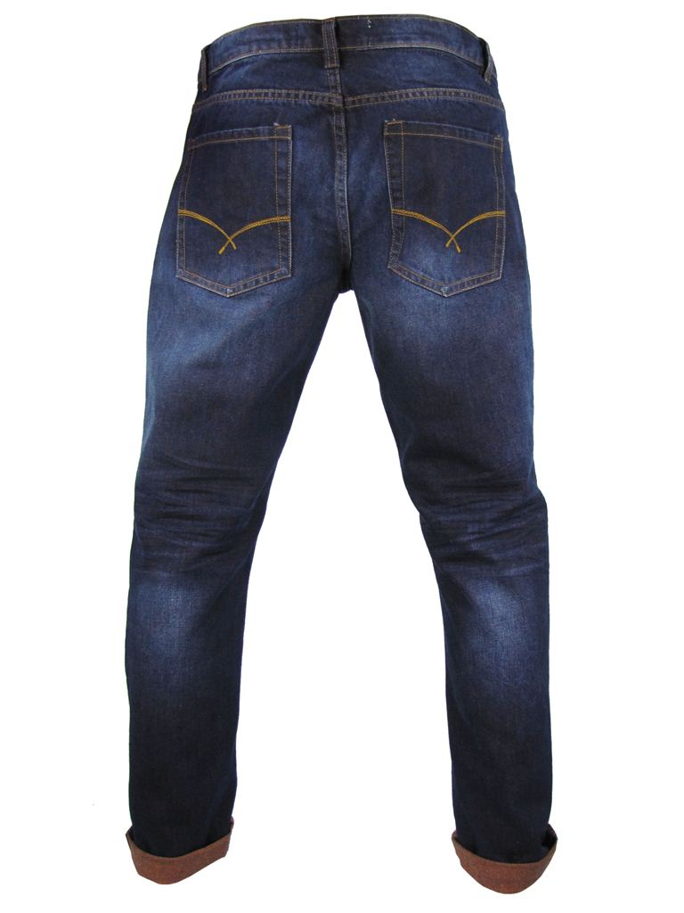 Tokyo Laundry Fashion Contrast 'Turn Up' Denim Jeans