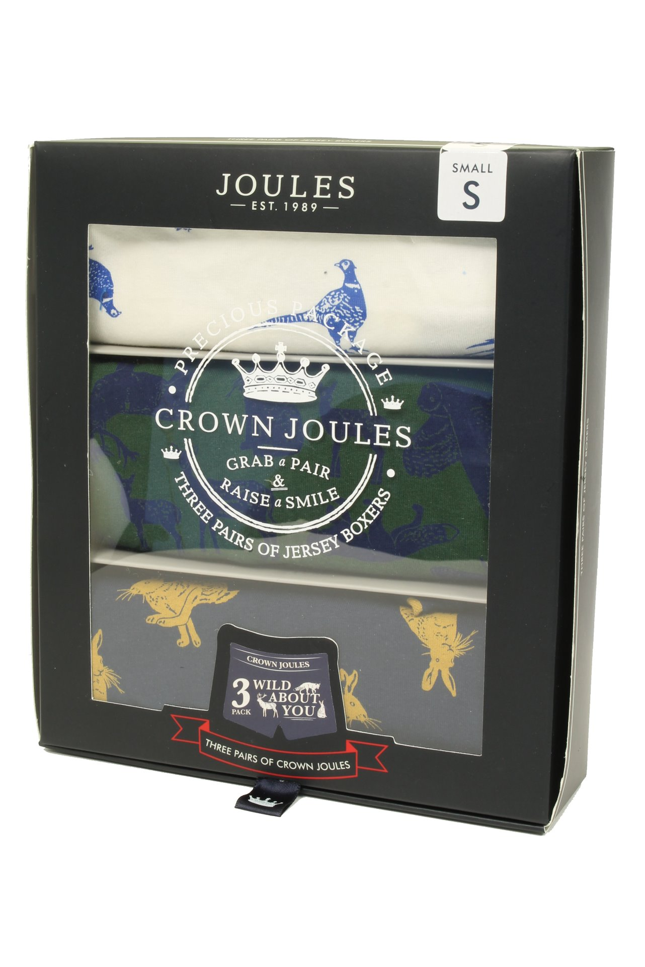 Mens Joules Underwear//Boxer Shorts /'Crown Joules 3 Pack/'