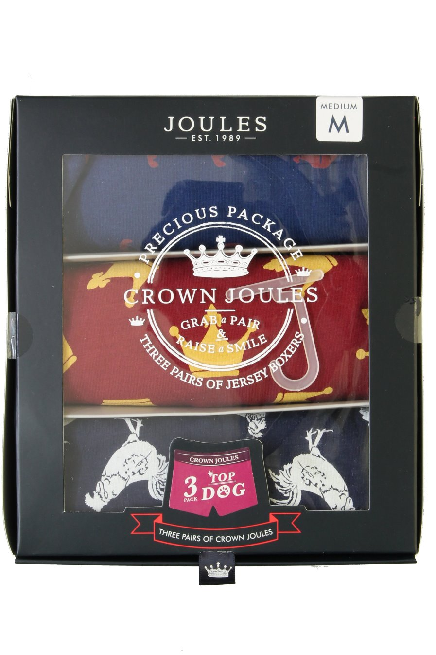 Mens Joules Underwear//Boxer Shorts /'Crown Joules 3 Pack/'