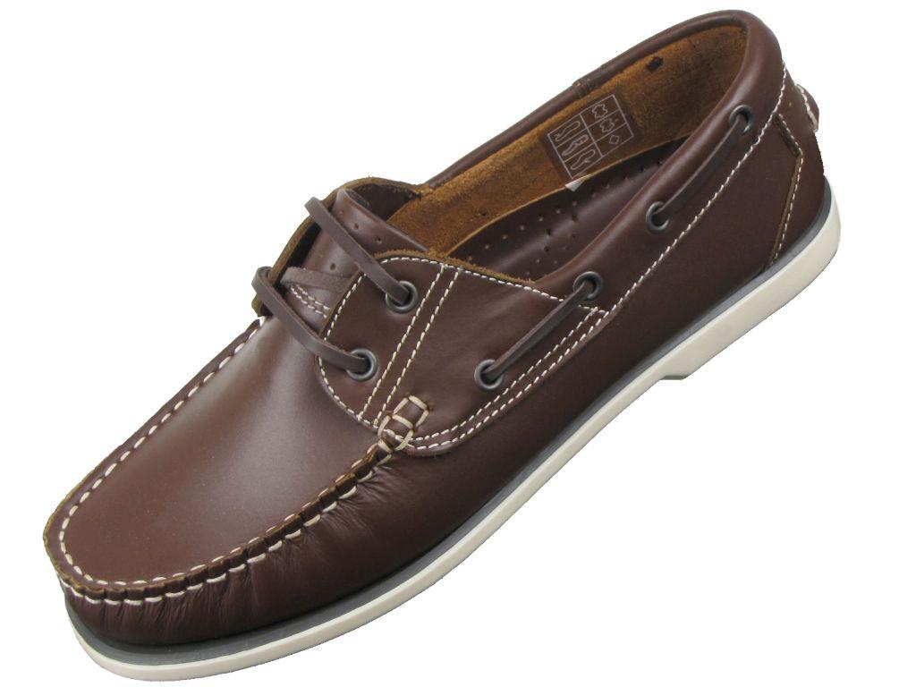 homme pont bateau mocassin chaussures en cuir par dek ebay. Black Bedroom Furniture Sets. Home Design Ideas