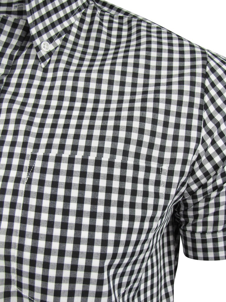 Mens Original Brutus Trimfit Button Down Shirt Gingham Check | eBay