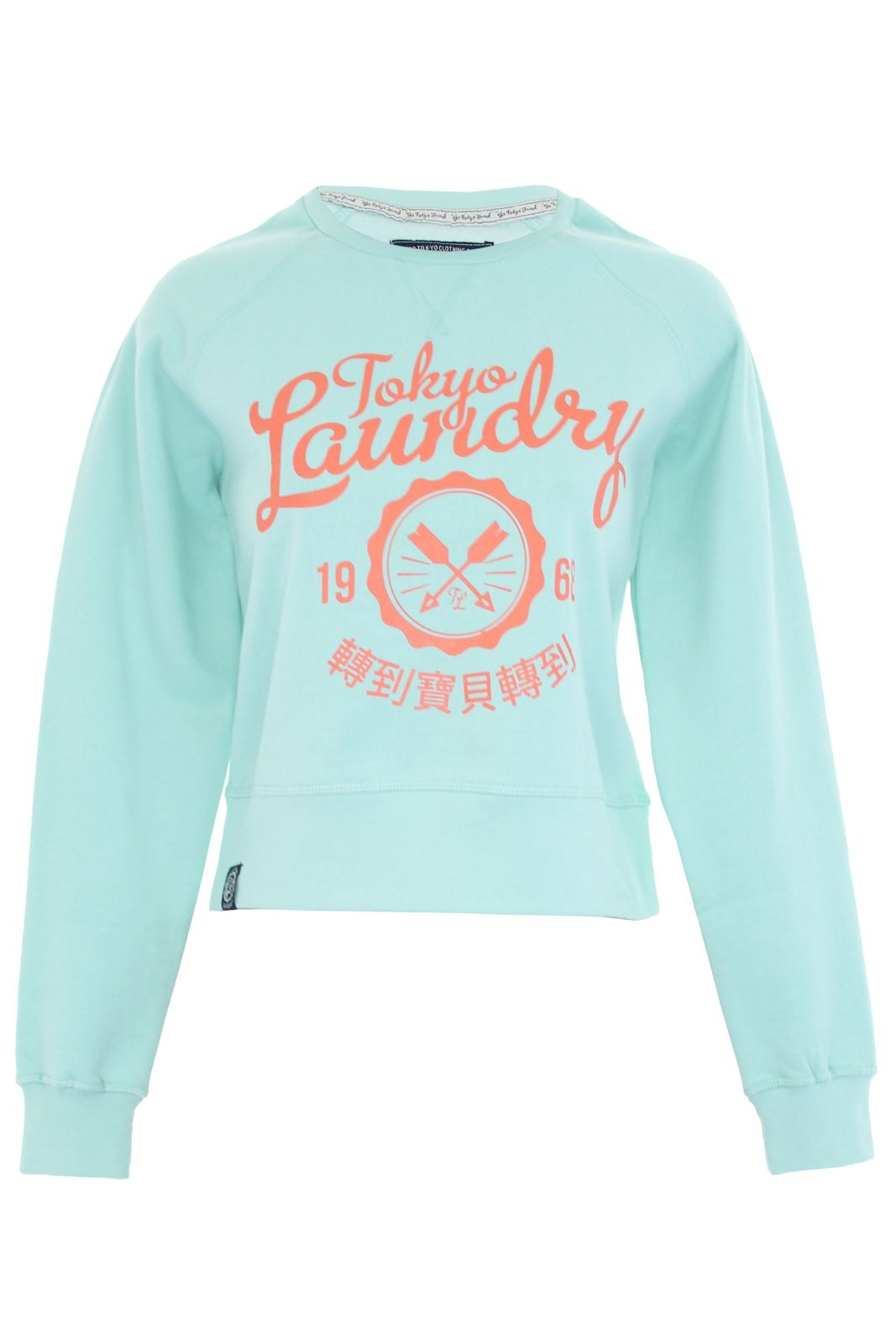 Womens/ Ladies Tokyo Laundry Sweater Jumper 'Emily' Plastisol Print Sweatshirt