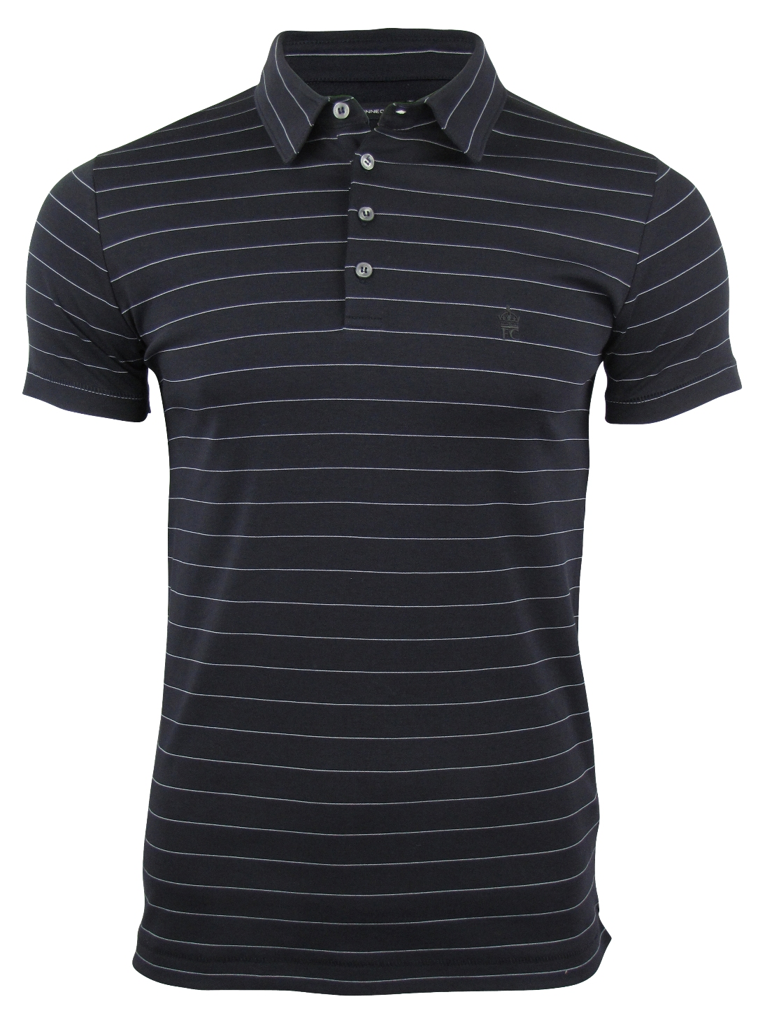 french connection fcuk stripe polo t shirt ebay. Black Bedroom Furniture Sets. Home Design Ideas