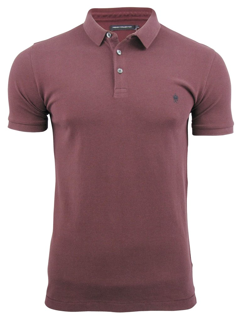 mens fcuk french connection mini collar polo t shirt