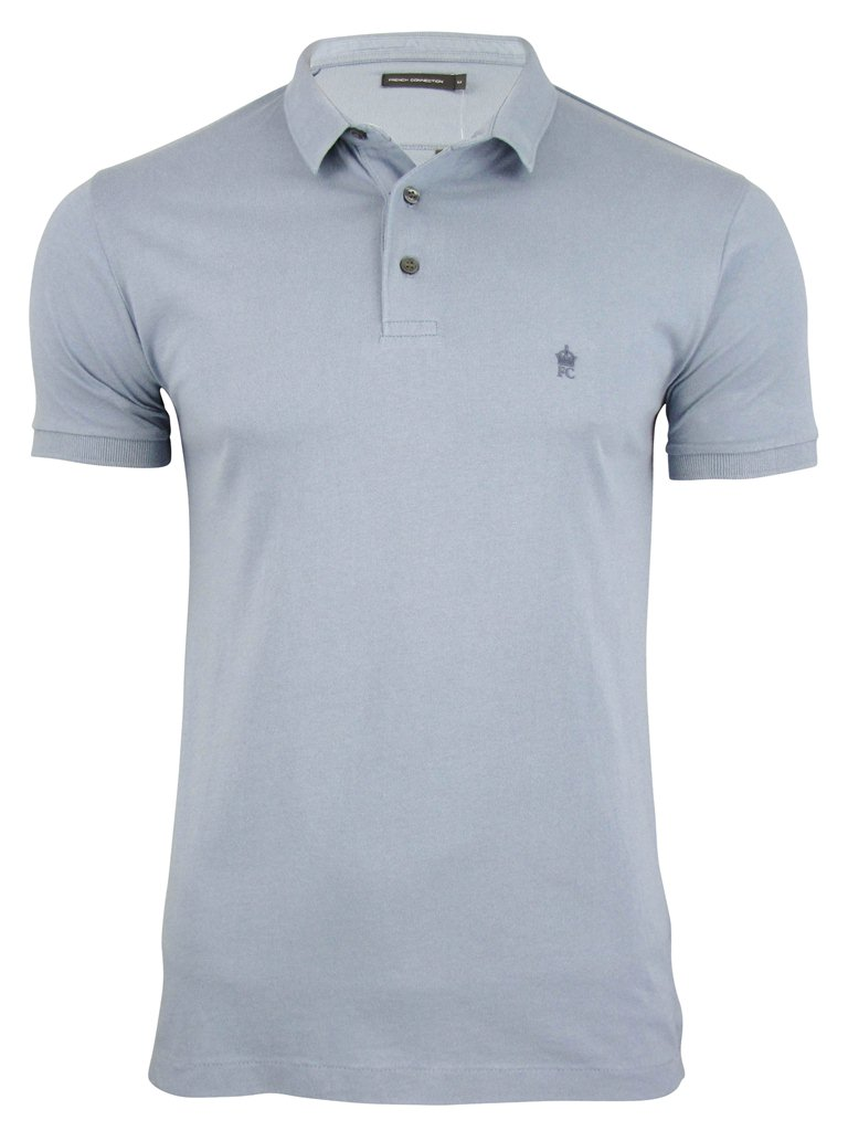 Fcuk short sleeved small collar polo t shirt ebay for Cheap polo collar shirts