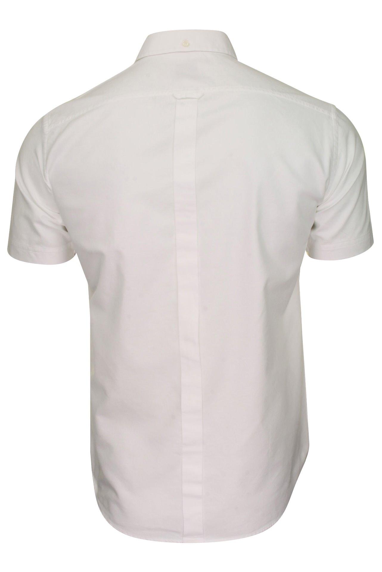 Details about  /Ben Sherman Mens Oxford Shirt Short Sleeved