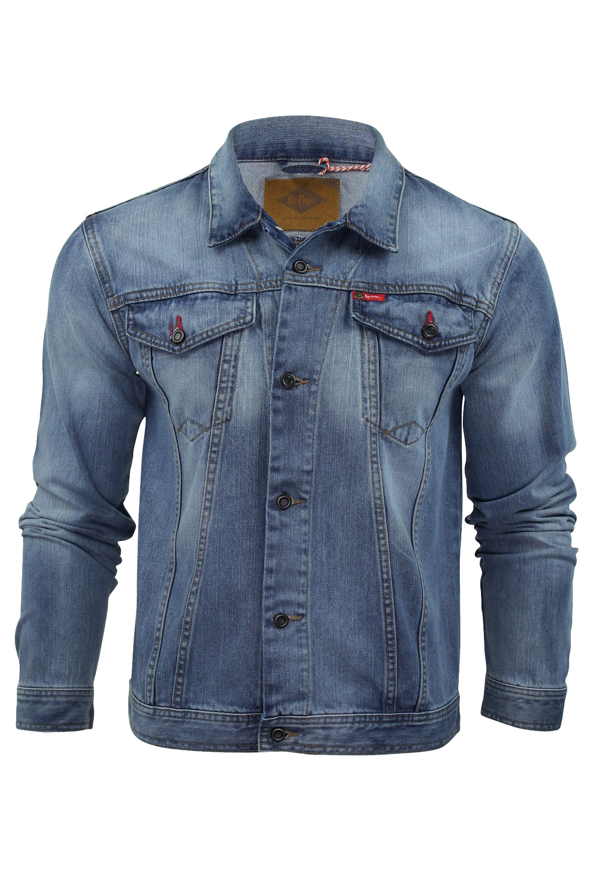 Mens Denim Jacket Coat Lee Cooper Premium Range u0026#39;Berdenu0026#39; | eBay