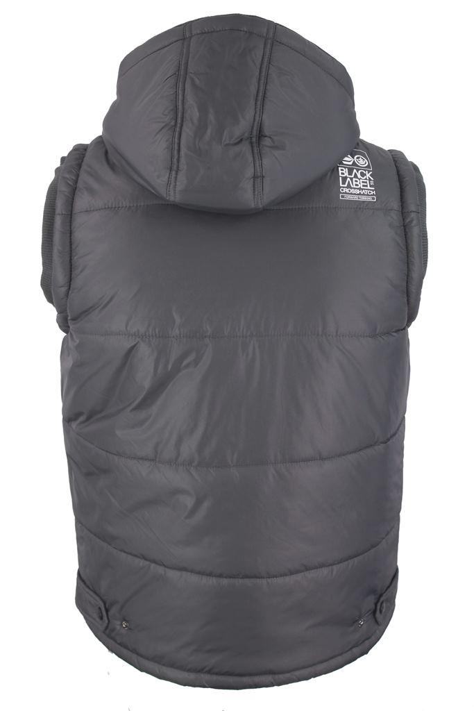 mens crosshatch gilet body warmer 39 overworld 39 hoodie. Black Bedroom Furniture Sets. Home Design Ideas