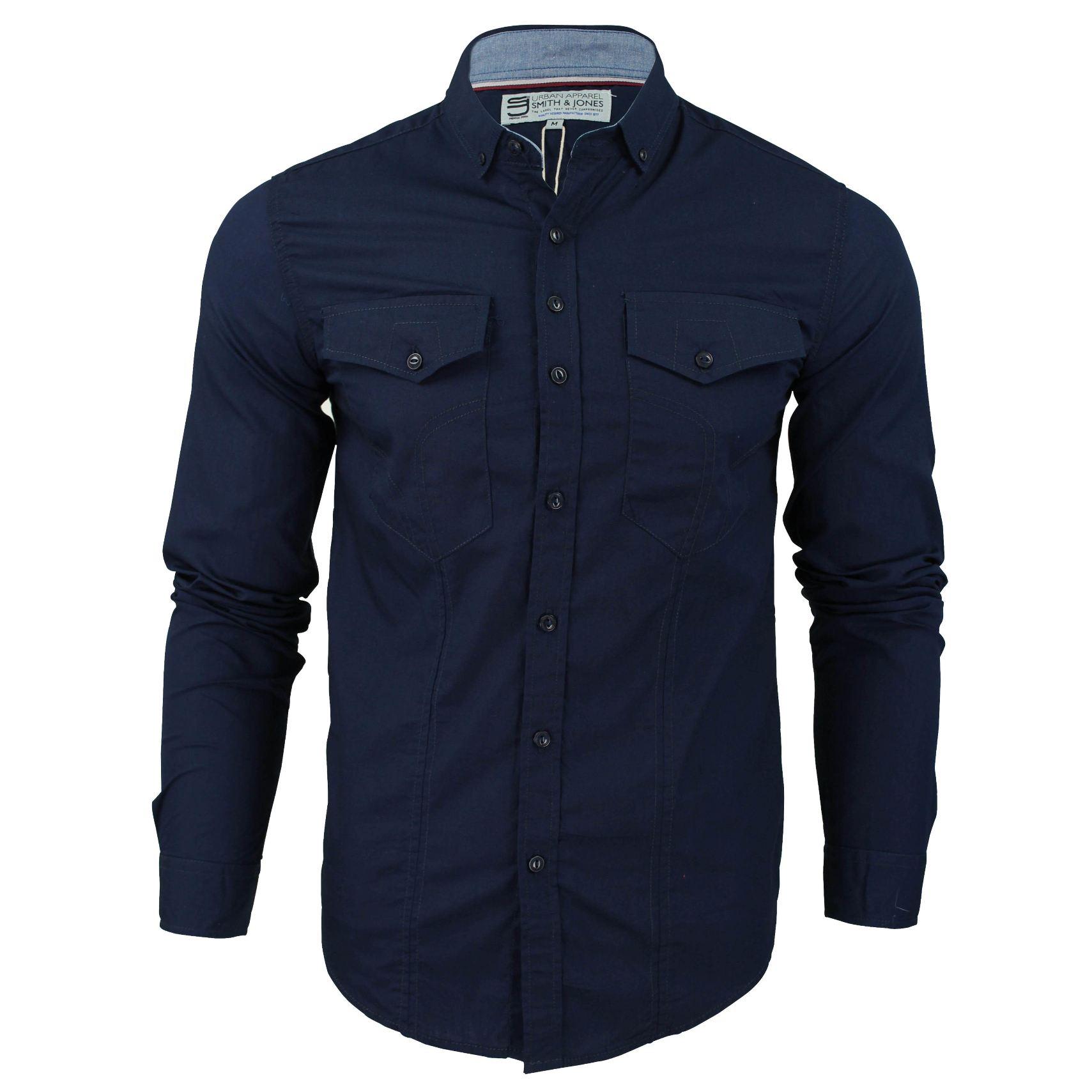 Mens shirt by smith jones 39 chadwick 39 long sleeved slim for Mens slim fit shirts