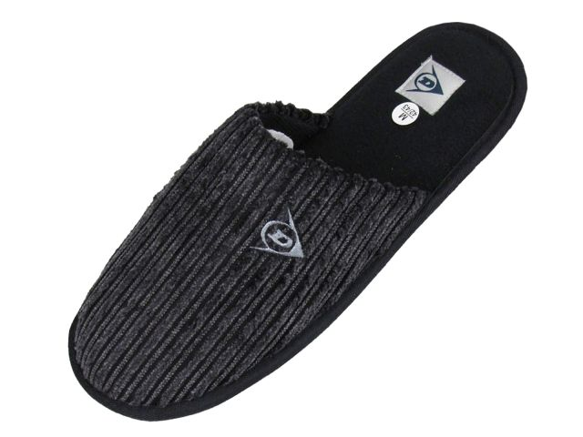 Mens-Dunlop-Mules-Slippers-Brown-Grey-Cord