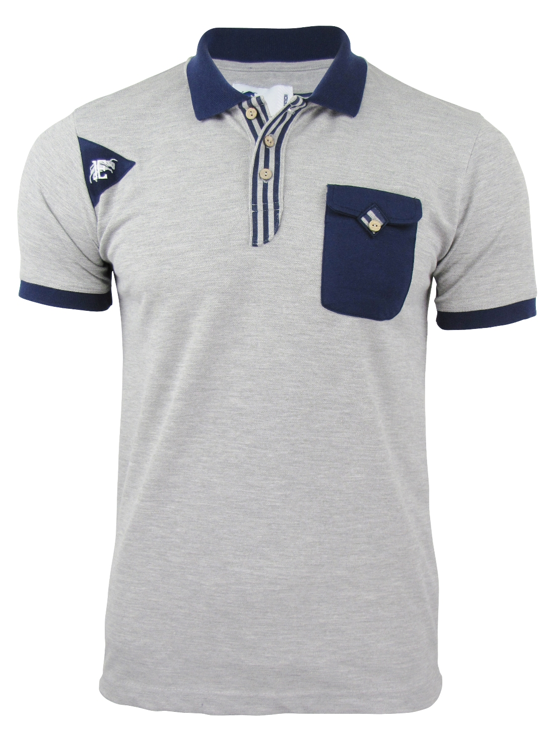 Eto mens pique polo t shirt with pocket for Mens collared t shirts