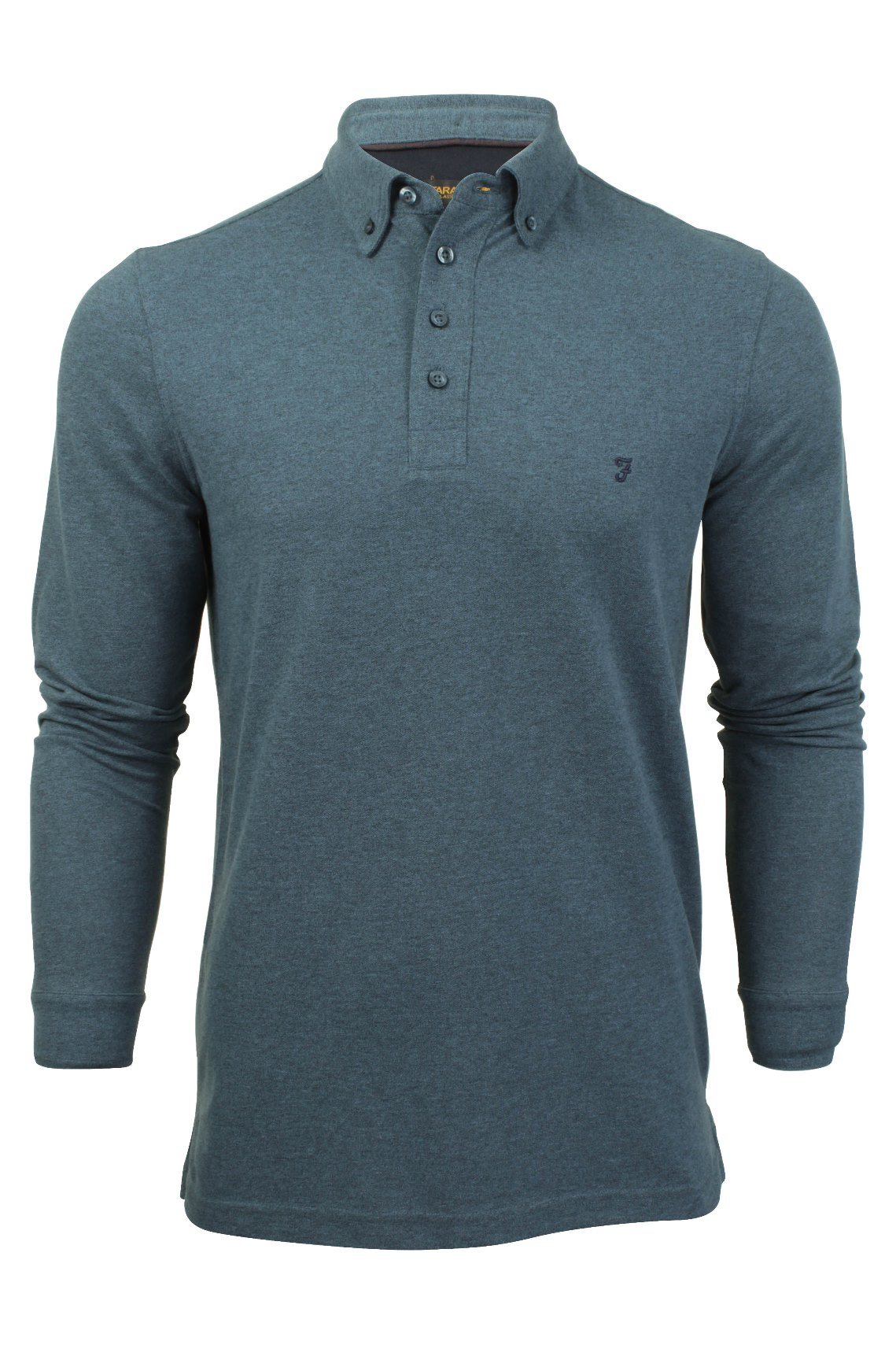 Mens polo shirt by farah classic 39 buchanan 39 button down for Polo shirts without buttons