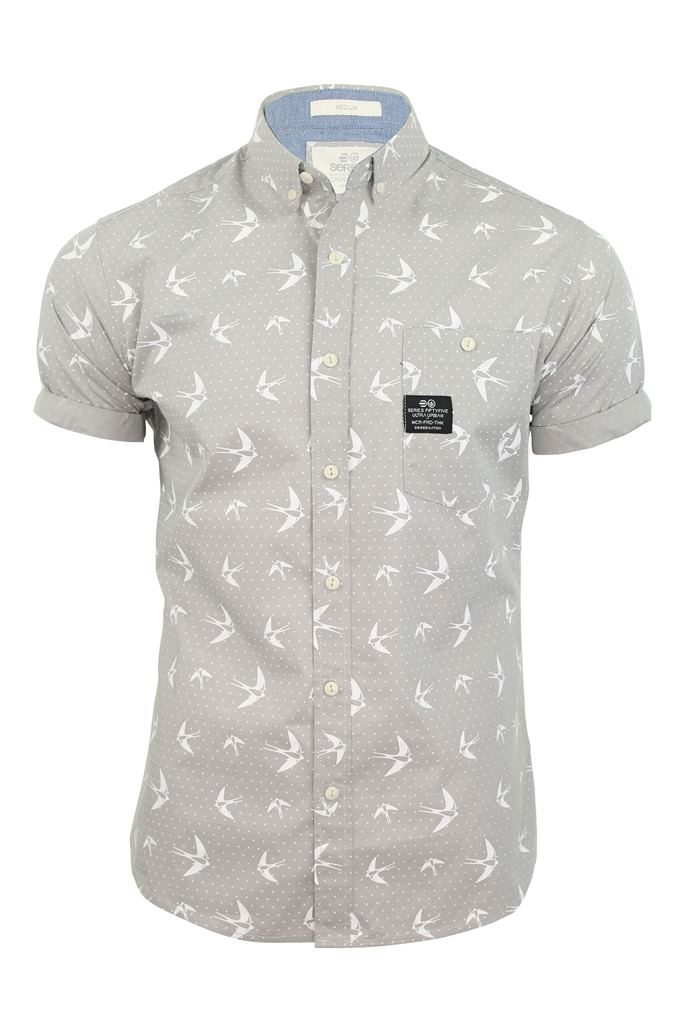 mens shirt by crosshatch casual 39 flighty 39 bird print short