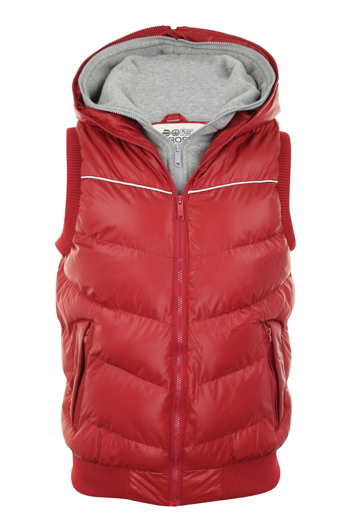 mens gilet body warmer crosshatch 39 gregour 39 zip hoodie. Black Bedroom Furniture Sets. Home Design Ideas