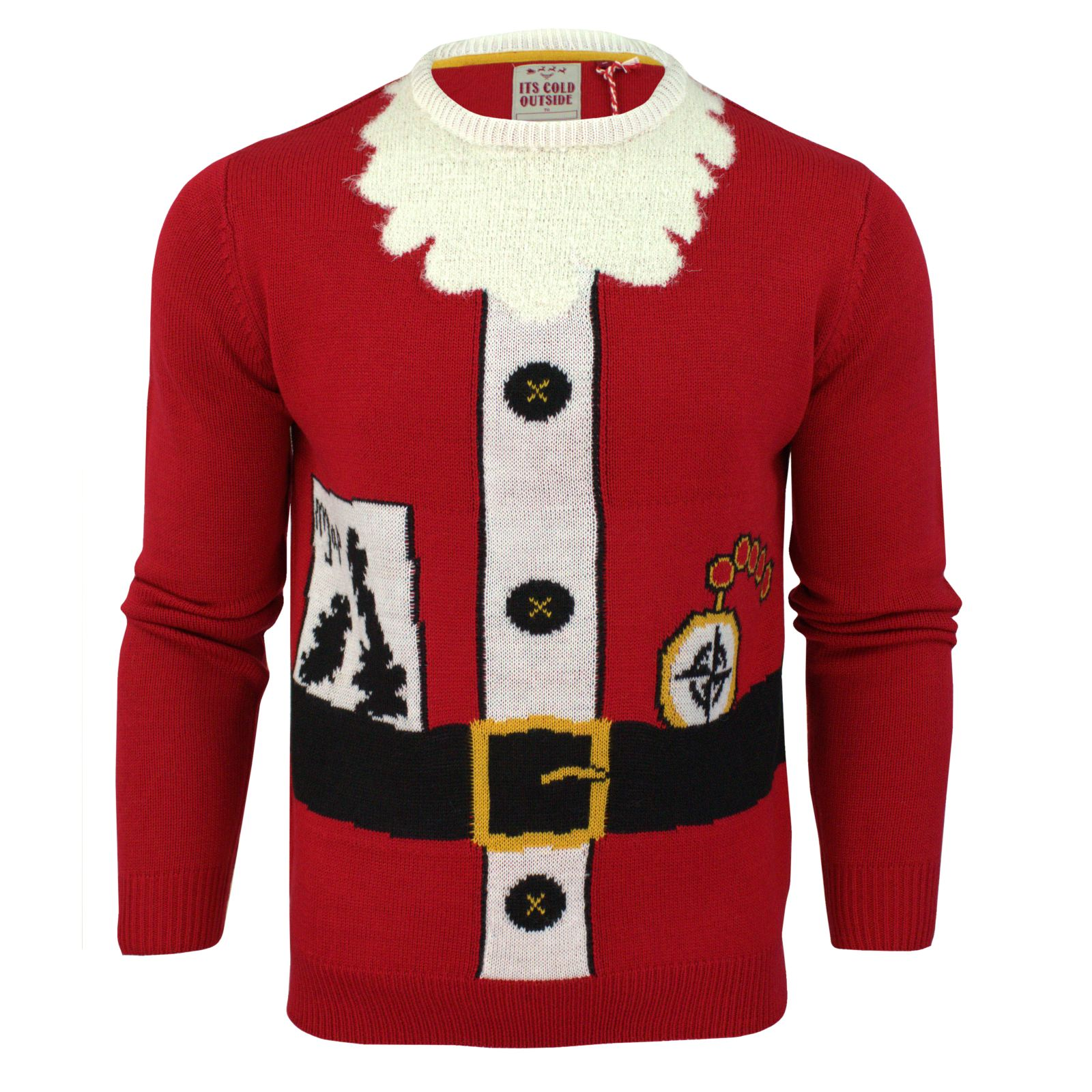 ... -Christmas-Jumper-Novelty-Threadbare-3D-Santa-Elf-Crew-Neck-Sweater