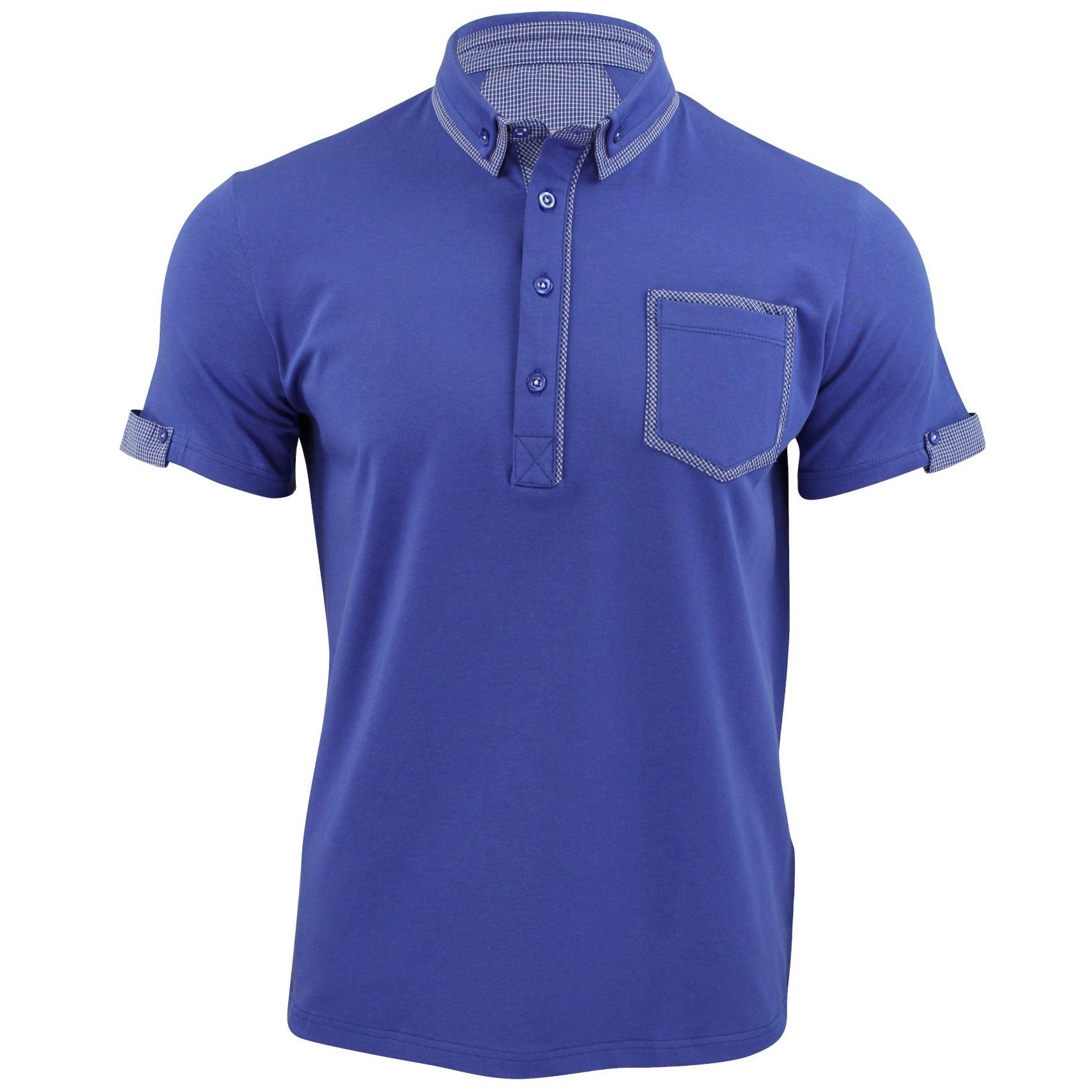 mens polo shirt xact clothing cotton rich gingham collar