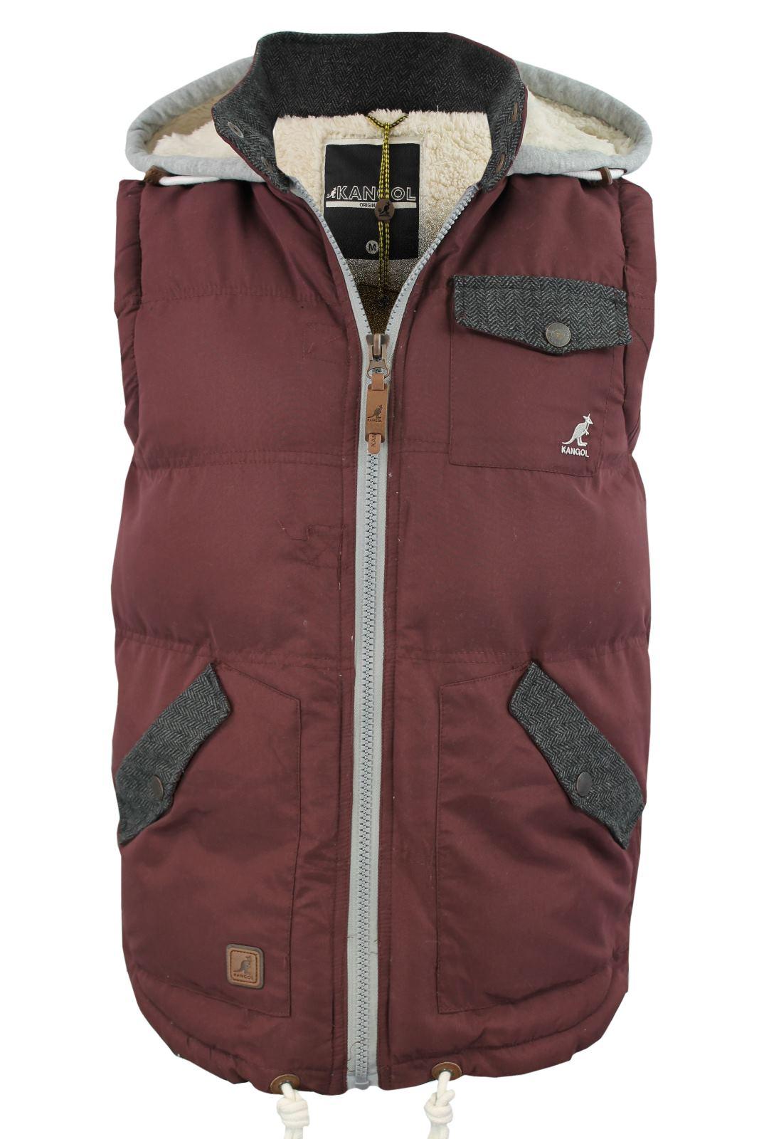 mens kangol 39 agonist 39 gilet body warmer hoodie jacket. Black Bedroom Furniture Sets. Home Design Ideas