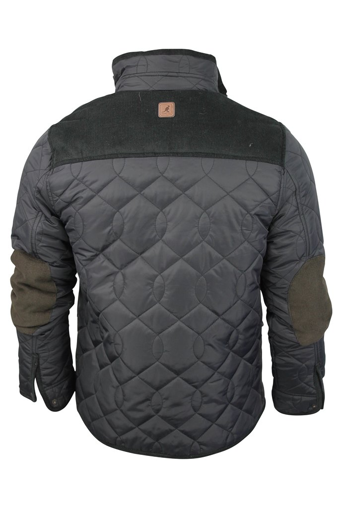 Kangol-Mens-Quilted-Intenso-Jacket-Coat-Cord-Trims