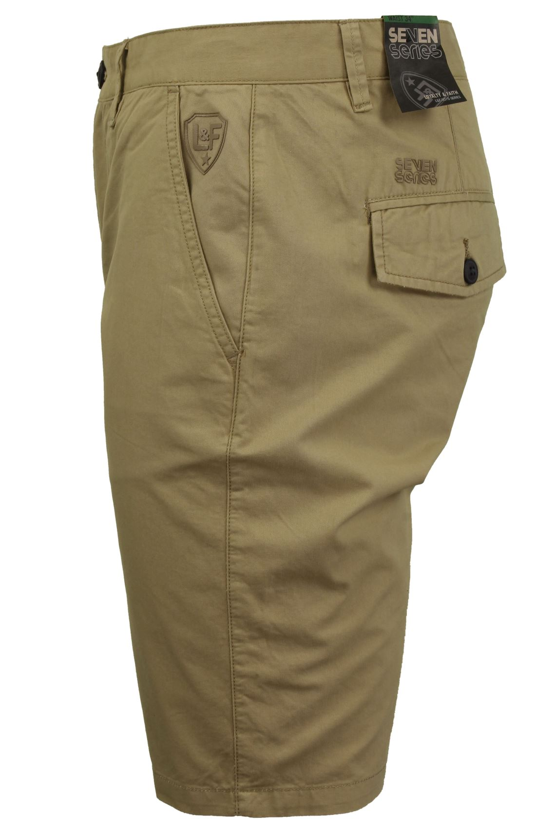 Mens Summer Chino Shorts in 100% Cotton Twill