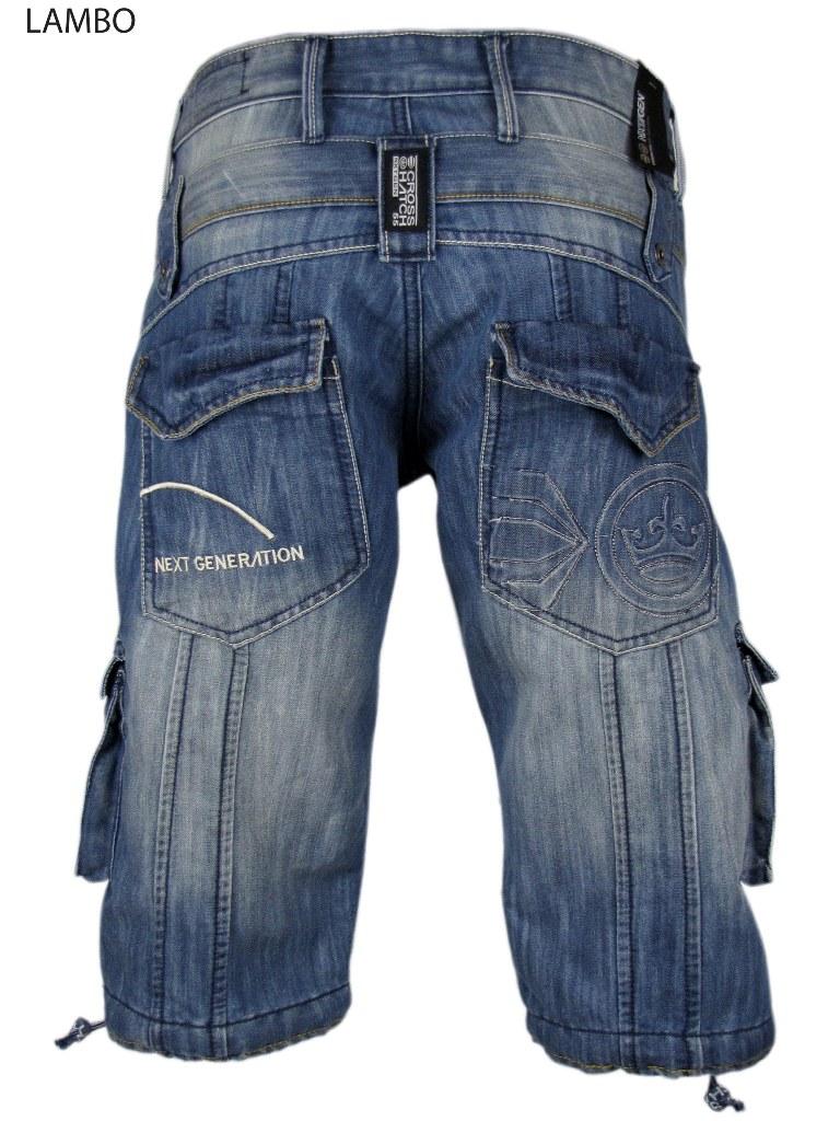 Mens Denim Long Jean/ Cargo Shorts Crosshatch Nxt Gen | eBay