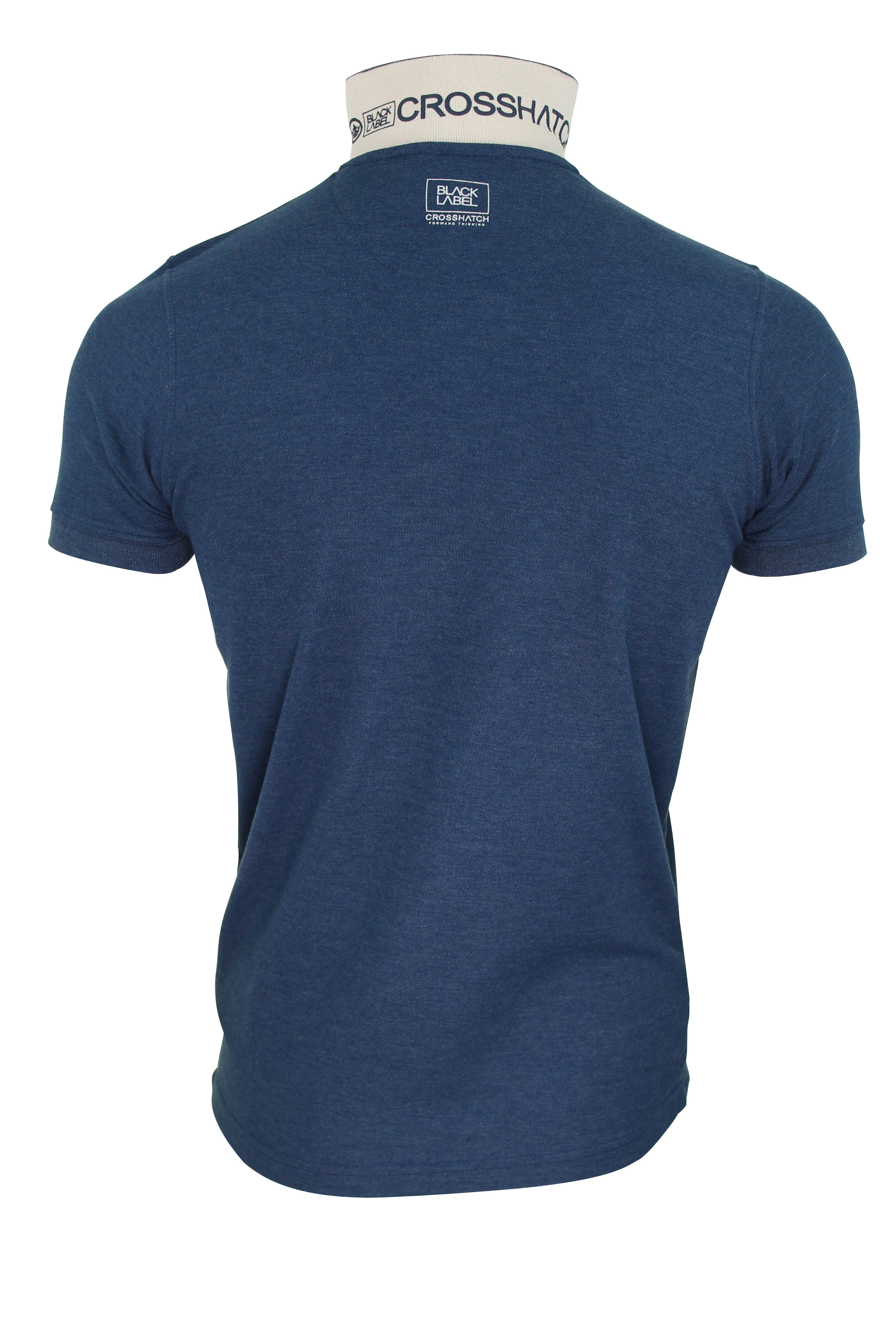 Mens polo t shirt by crosshatch 39 leks 39 printed logo short for Polo t shirt printing