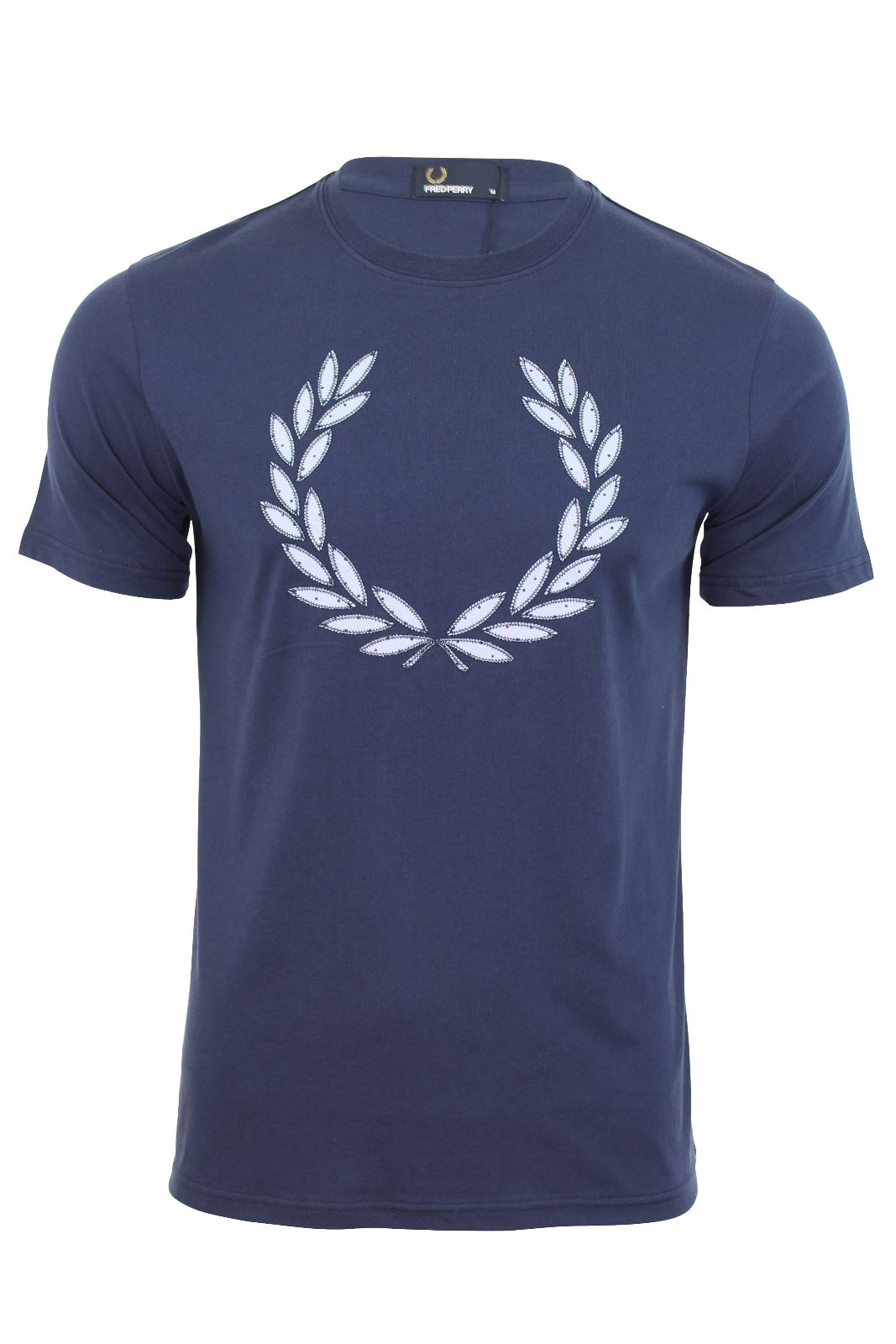 Mens fred perry t shirt vintage applique short sleeved for Von maur mens shirts