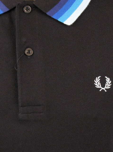 Fred Perry Polo T-Shirt Pique Navy Mod Retro All Sizes Enlarged Preview