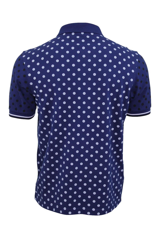 Mens Pique Polo Shirt Fred Perry Polka Dot Print T Shirt
