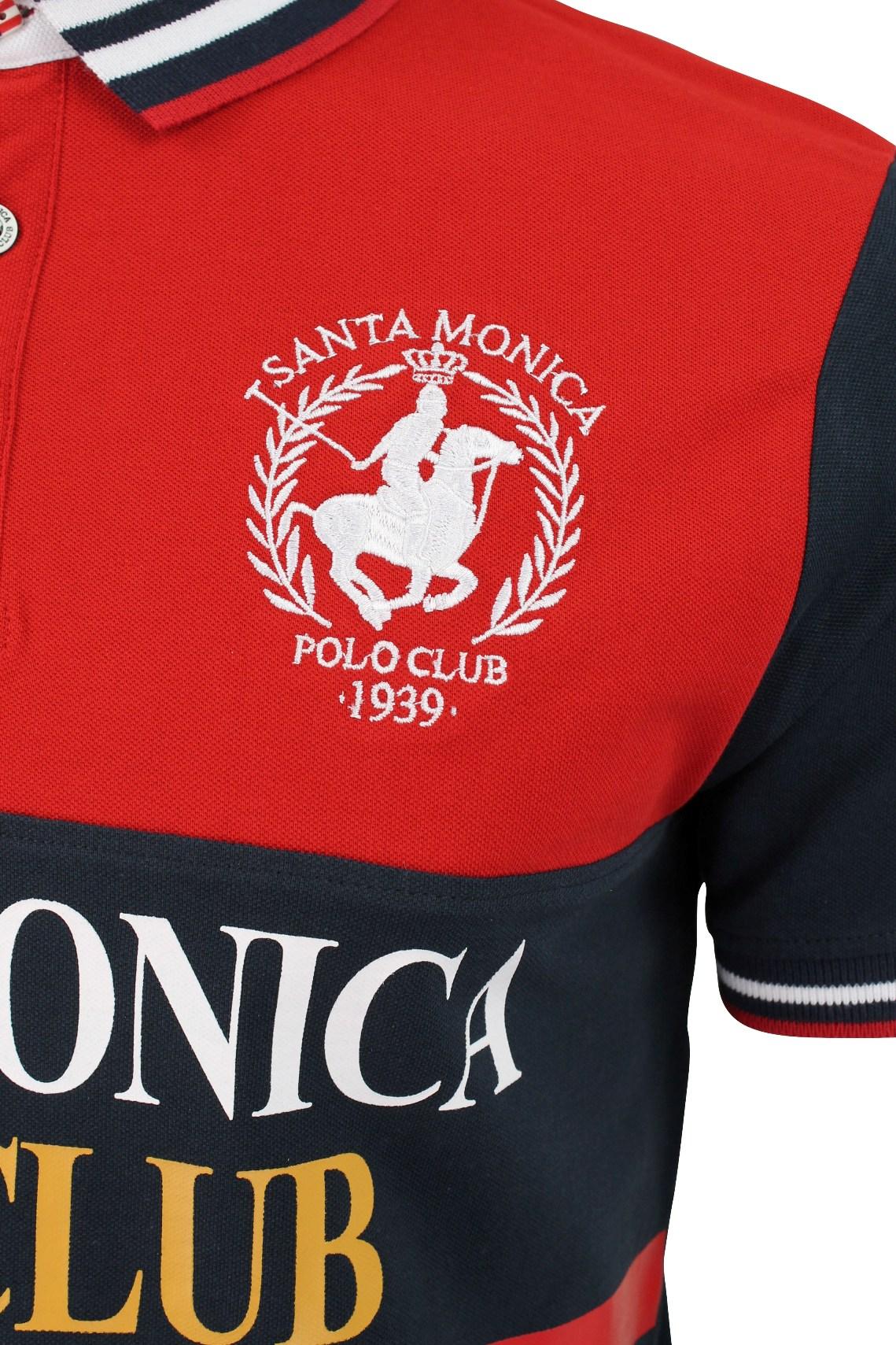 Mens Polo Shirt by Santa Monica Short Sleeved