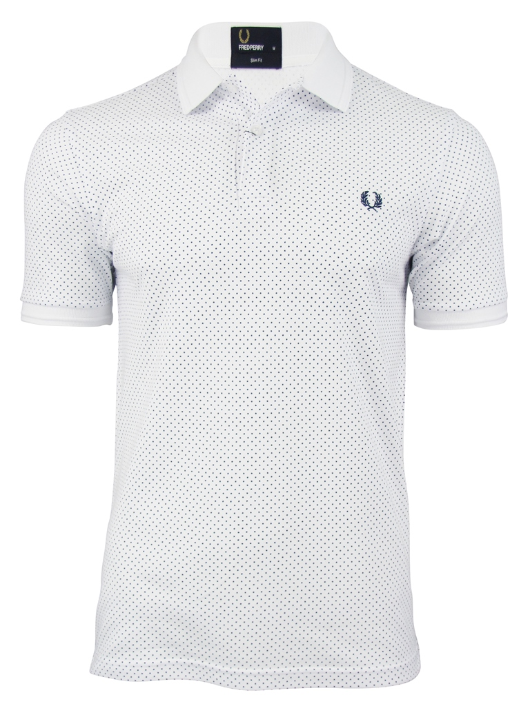 Mens Fred Perry Pin Dot Polo T-Shirt Enlarged Preview