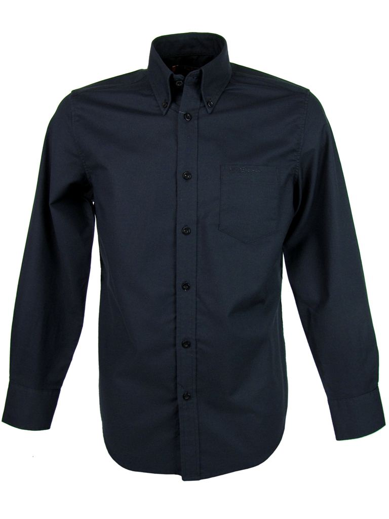Mens Ben Sherman Classic Eton Oxford Shirt Plain Long