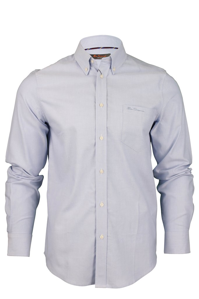 Mens Ben Sherman New Mod Fit Oxford Shirt Long Sleeves