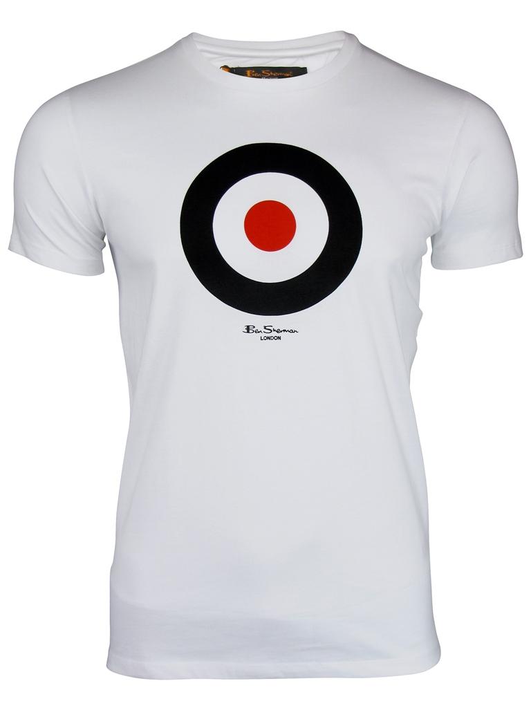 Black t shirt target - Mens T Shirt By Ben Sherman Throne Target Print White