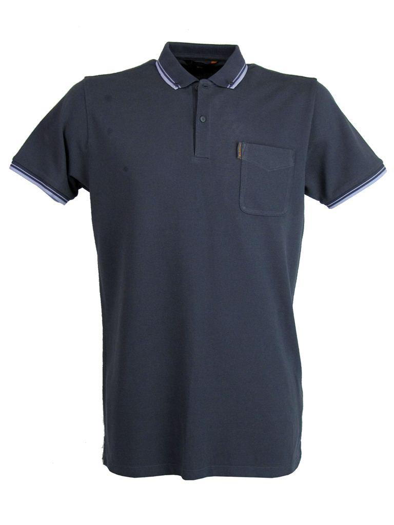 Mens ben sherman pique polo t shirt twin tipped button for Button collar t shirt